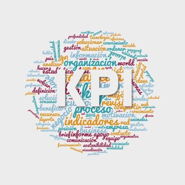 Nube de etiquetas acerca de qué es un KPI